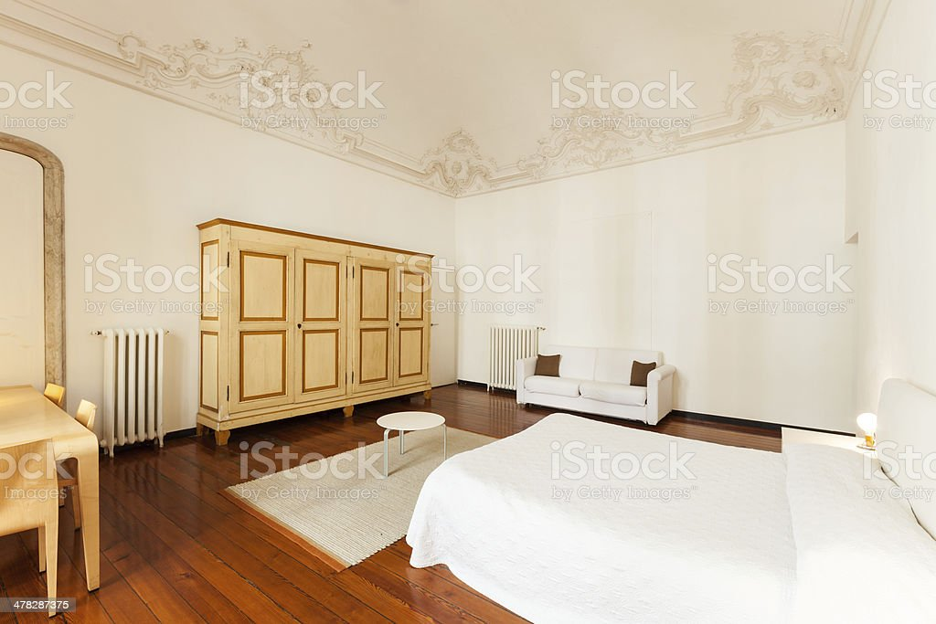 bedroom in a hotel royalty-free stock photo
