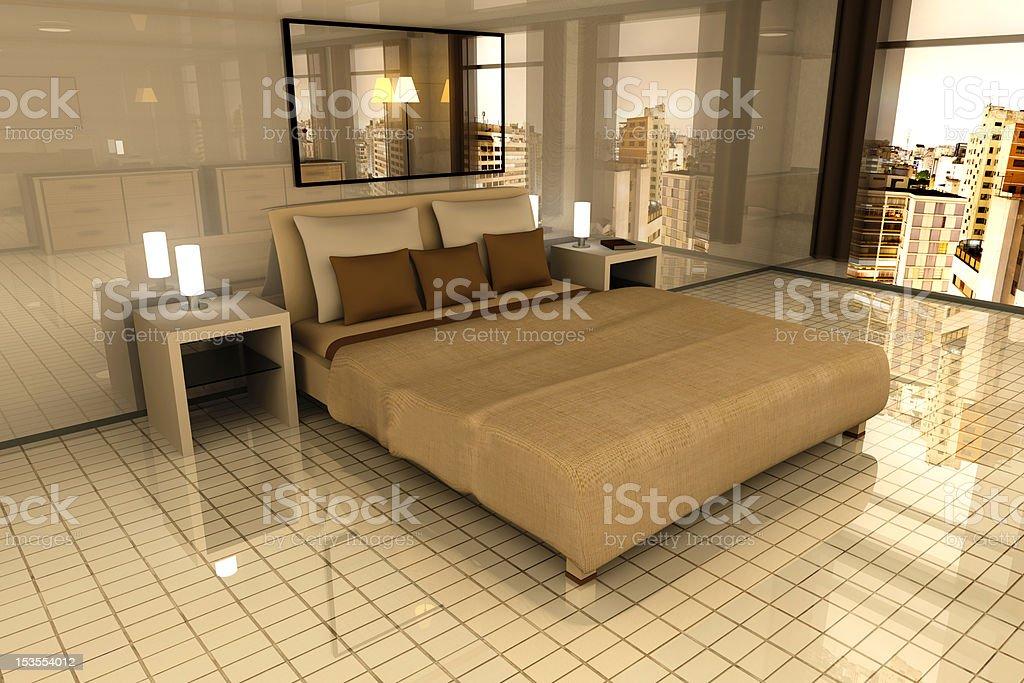 Bedroom in Sao Paulo royalty-free stock photo