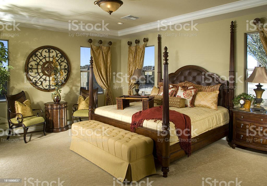 Bedroom Interior Design Home royalty-free stock photo