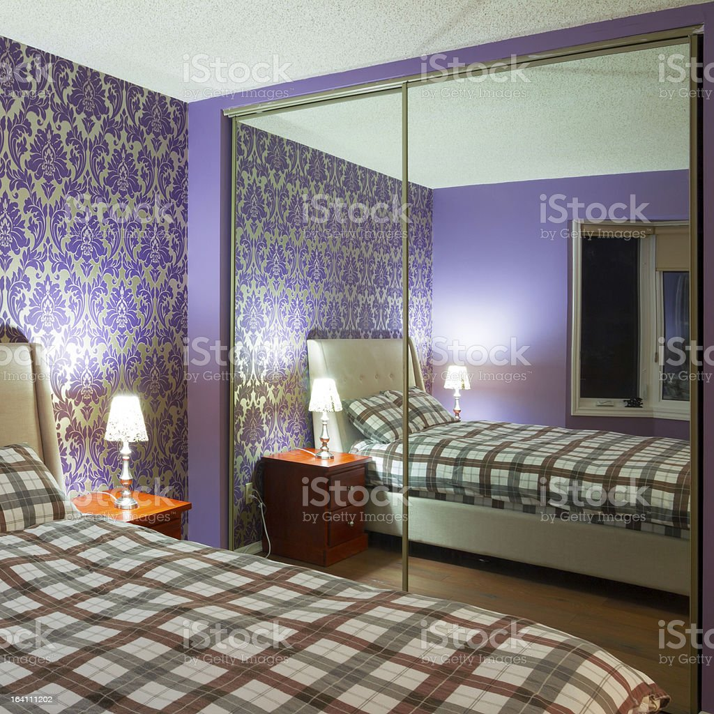 Bedroom interior design royalty-free stock photo