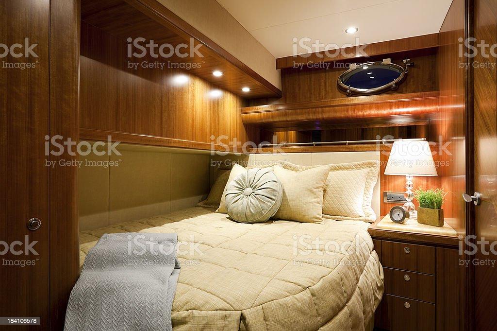 bedroom interior luxury motor yacht wealth royalty-free stock photo