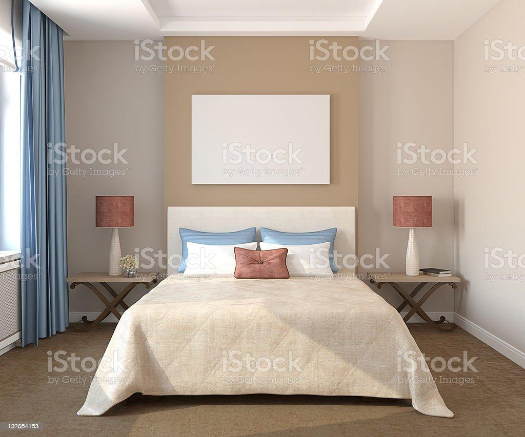 Bedroom interior. royalty-free stock photo