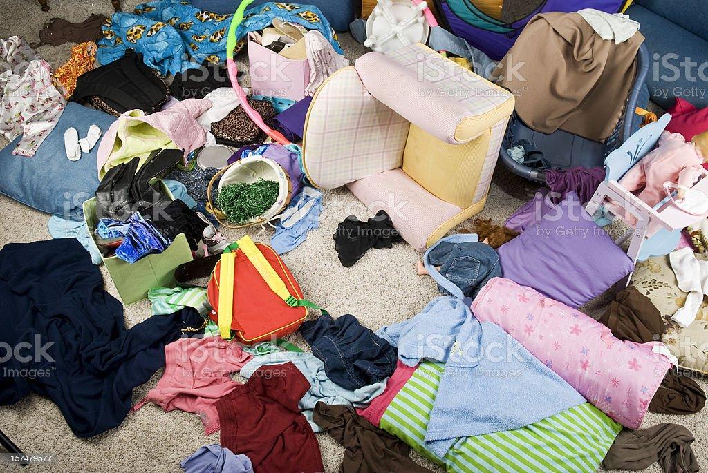 Bedroom Mess royalty-free stock photo