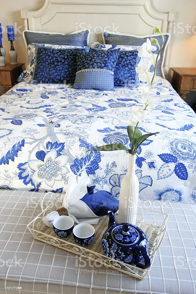 Bedroom Morning stock photo