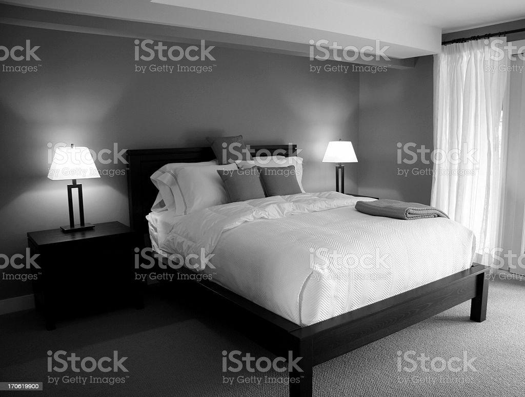 Bedroom Noir With Window royalty-free stock photo