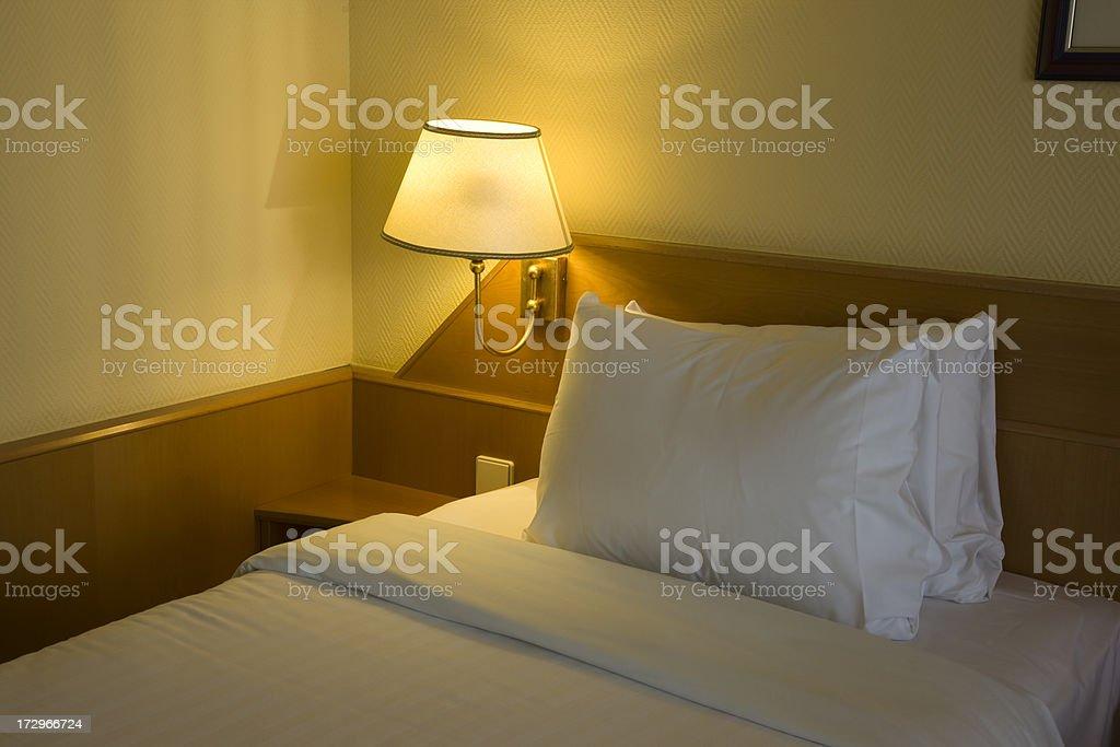 bedroom of hotel stock photo
