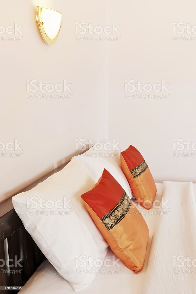 Bedroom on holiday in Thailand royalty-free stock photo
