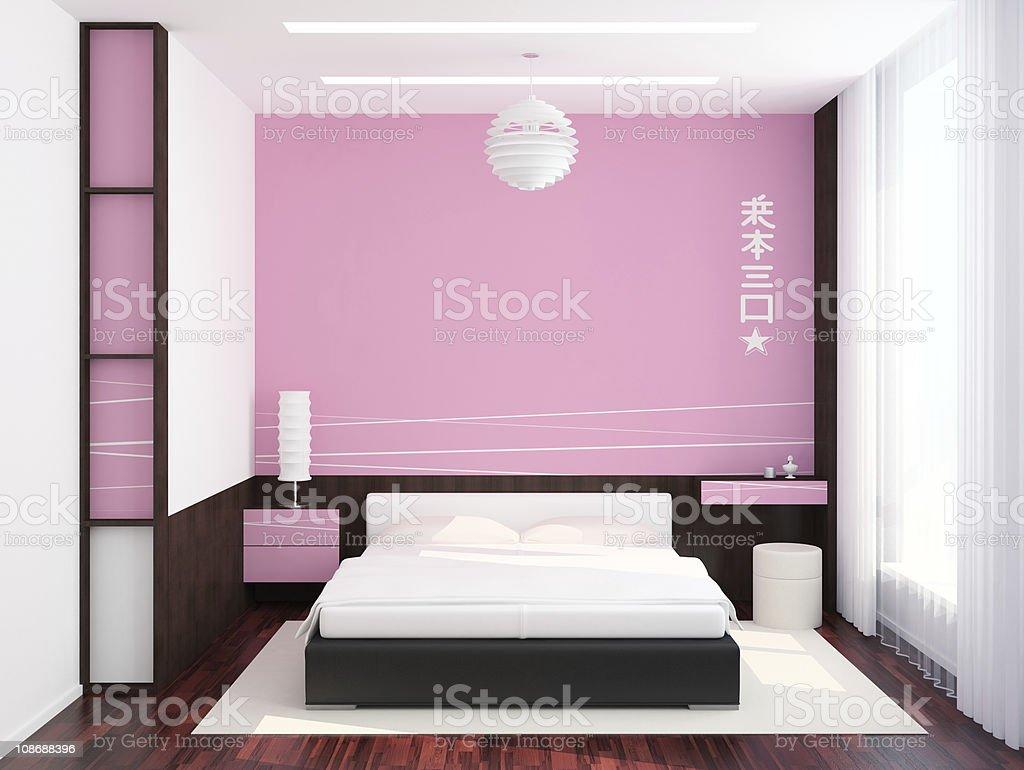 Bedroom Pink Wall stock photo