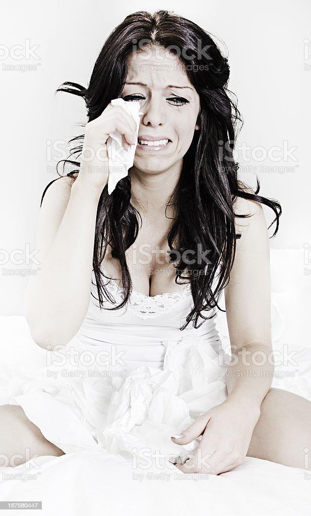 Bedroom Tears royalty-free stock photo