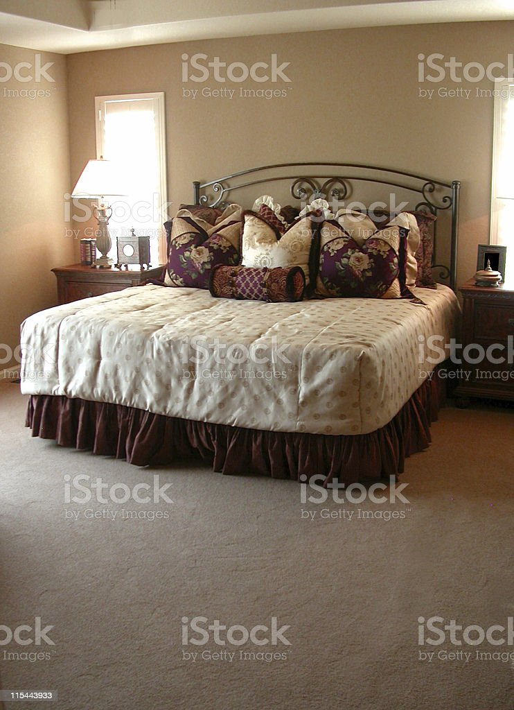 Bedroom with Carpet stock photo