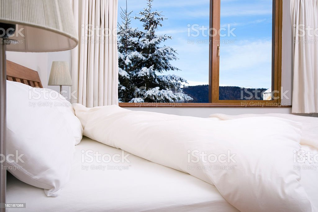 bedroom with scenery royalty-free stock photo