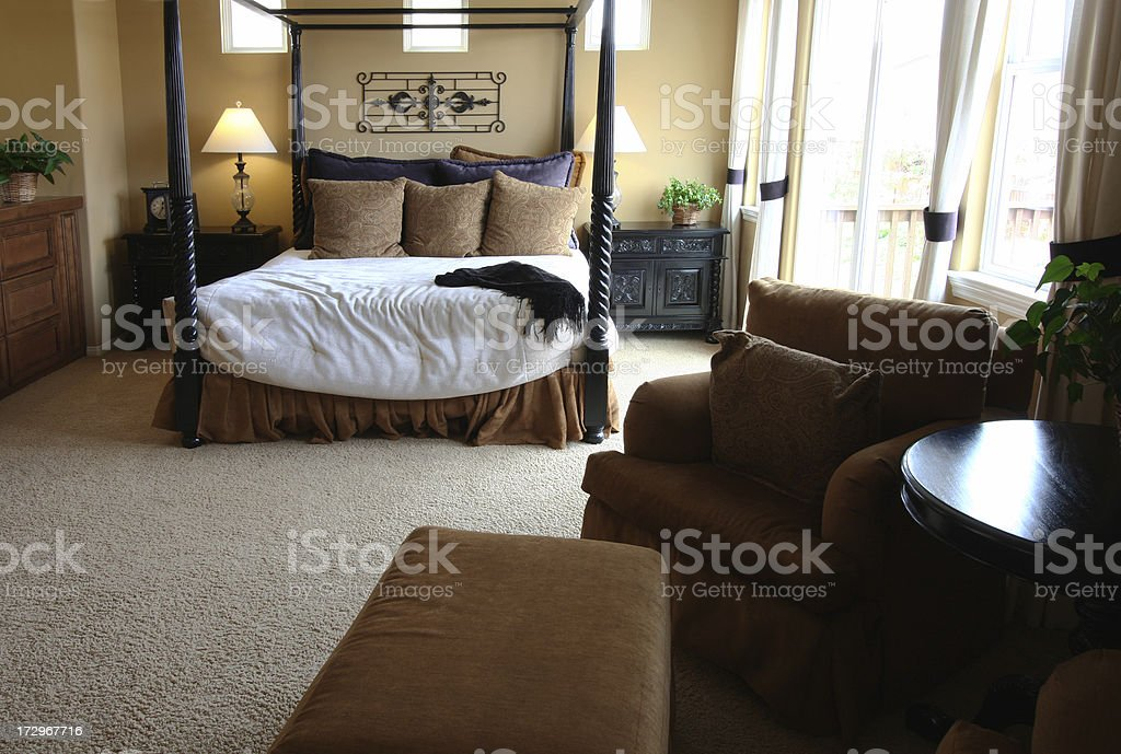 Bedroom with Sitting Area royalty-free stock photo