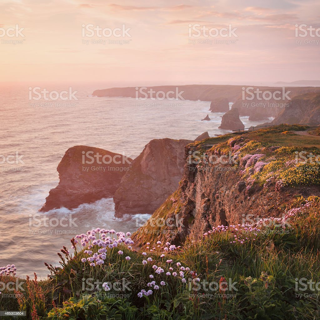 Bedruthan, Cornwall stock photo