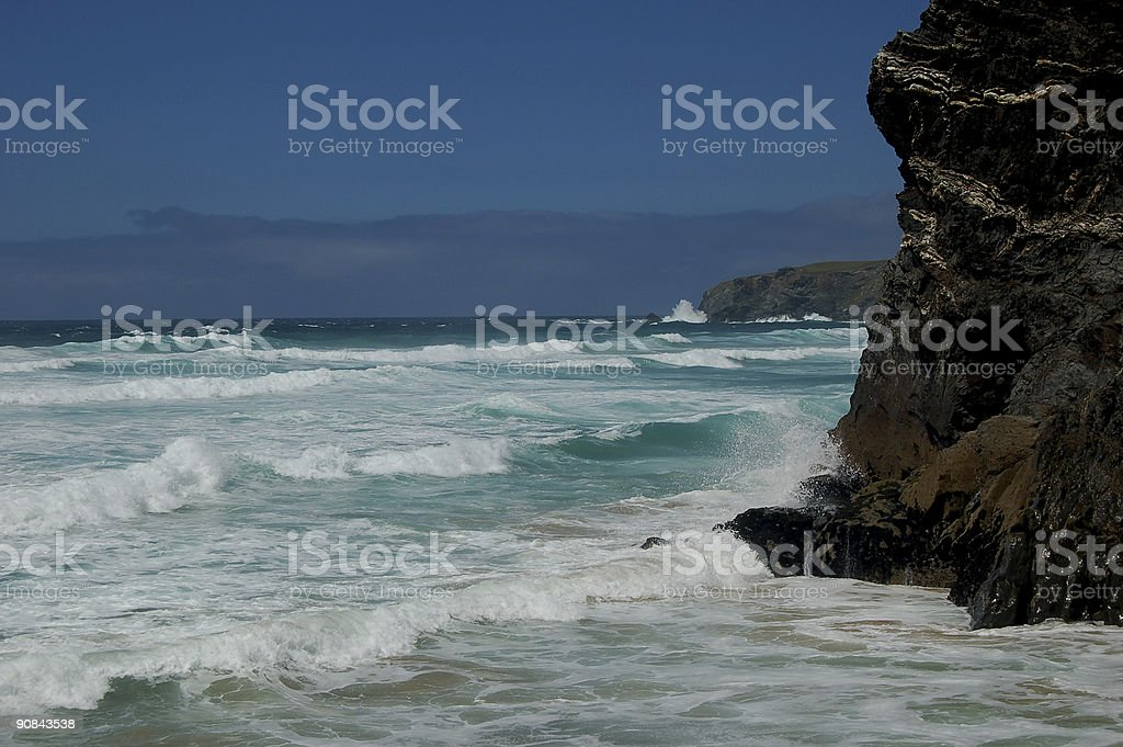Bedruthan Steps 2 royalty-free stock photo