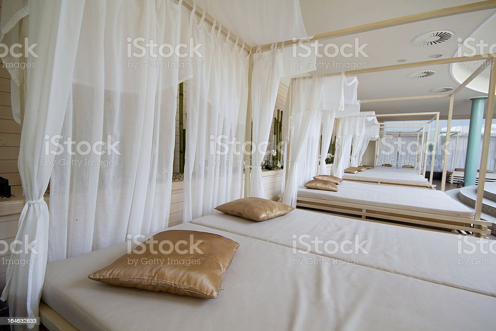 beds for relaxing royalty-free stock photo