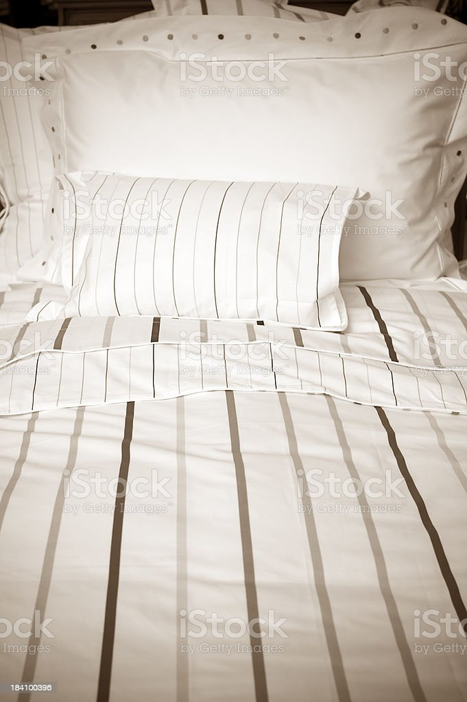 Bedspread Pillow royalty-free stock photo