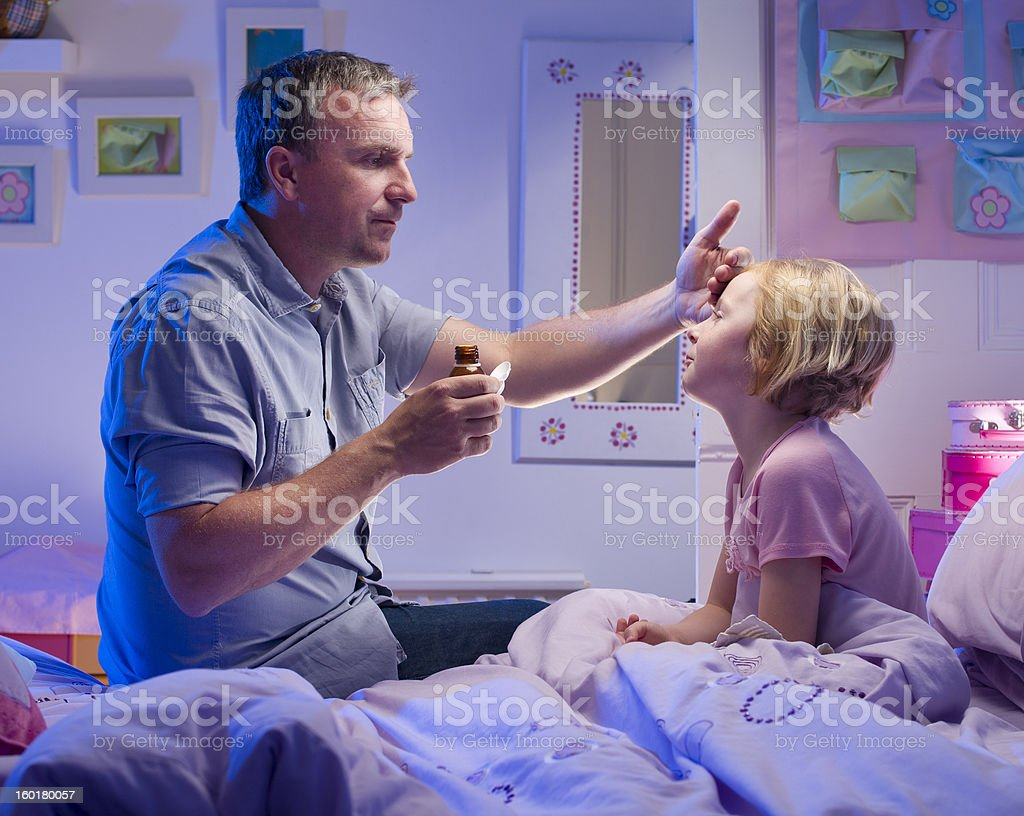 bedtime medicine stock photo