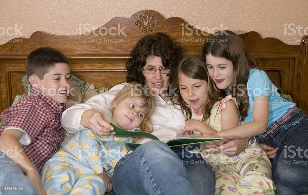 Bedtime Story stock photo