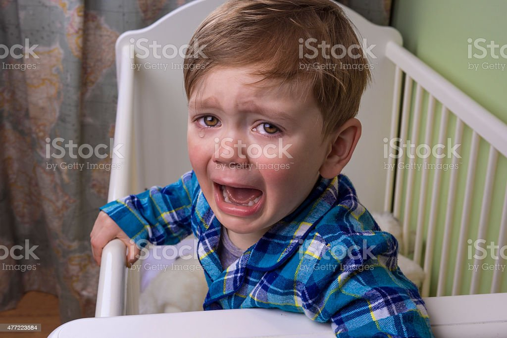 bedtime tears stock photo