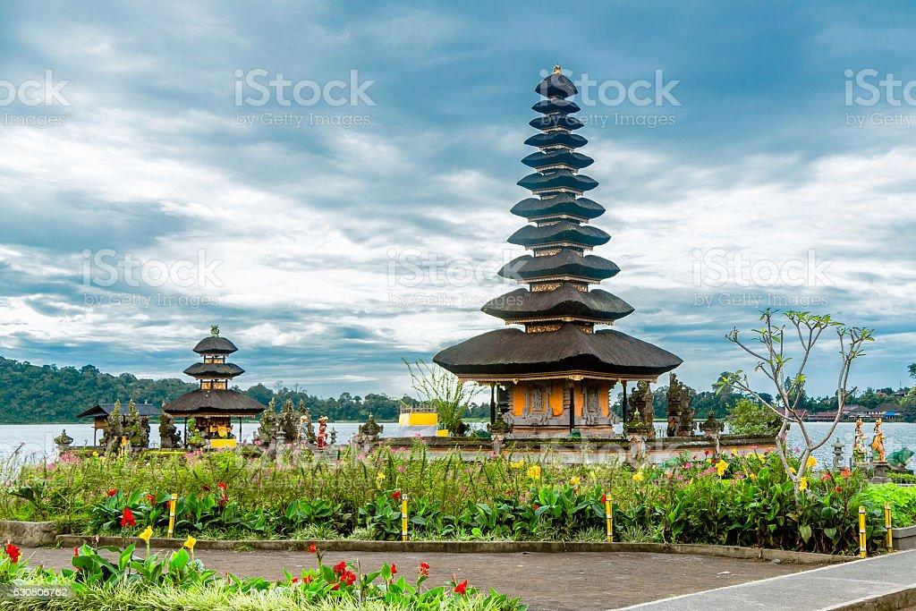 Bedugul Temple in Bali stock photo
