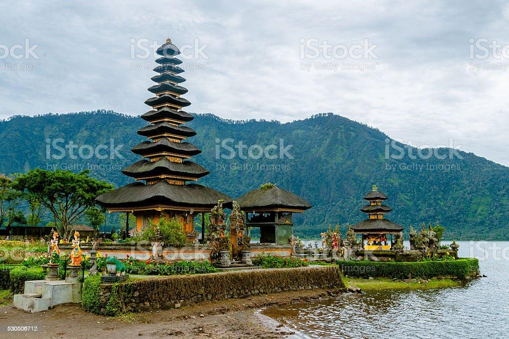Bedugul Water Temple stock photo