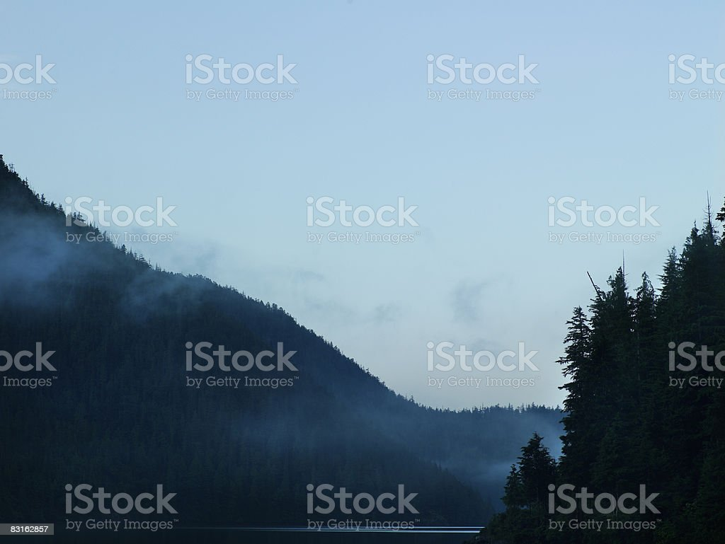 Bedwell Sound in early morning.  stock photo