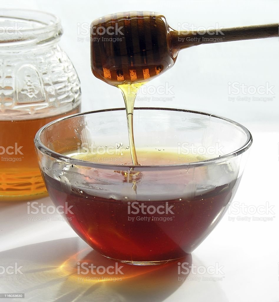 bee honey royalty-free stock photo