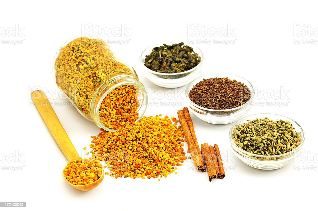Bee Pollen and flavoring royalty-free stock photo