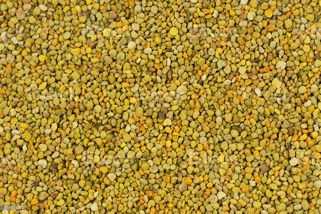 Bee Pollen texture natural background apiculture stock photo