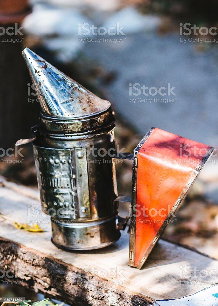 Bee Smoker stock photo