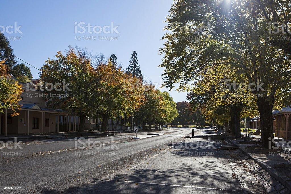 Beechworth Street stock photo