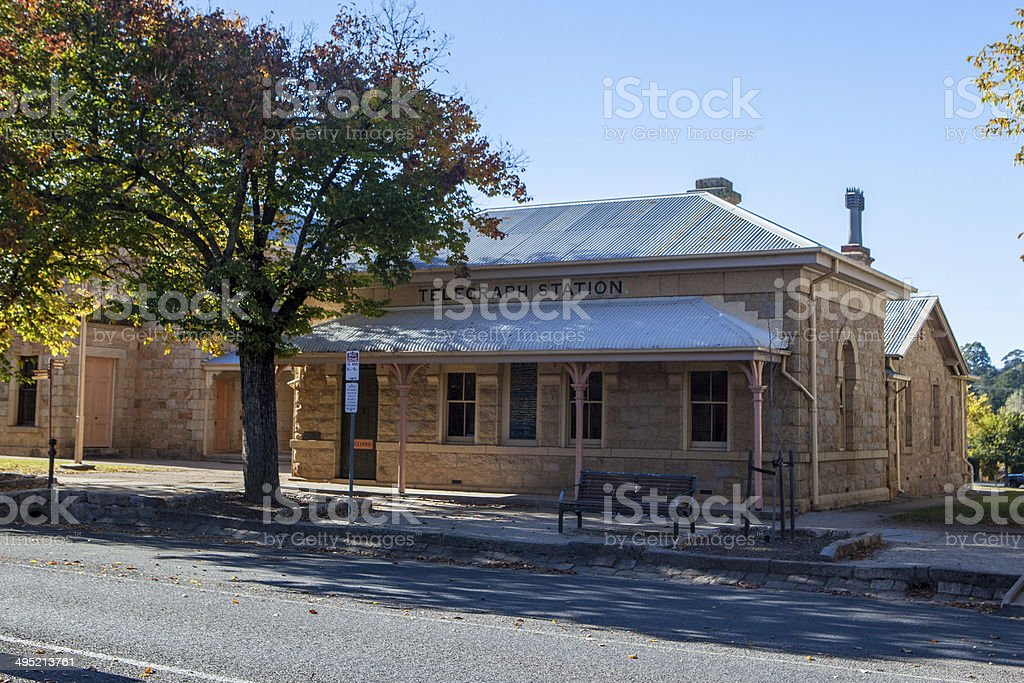 Beechworth Town Centre stock photo