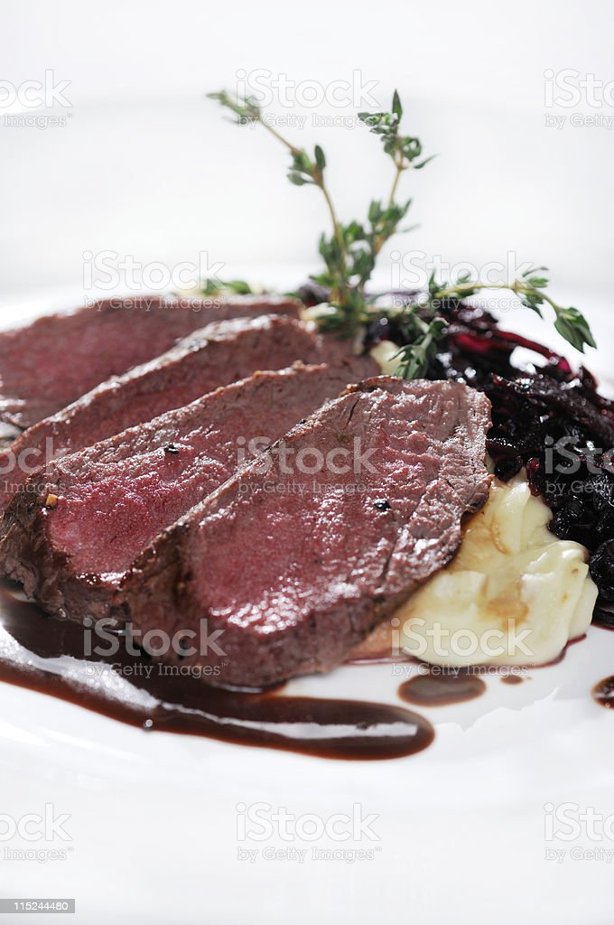 Beef & Red Onion Marmalade stock photo