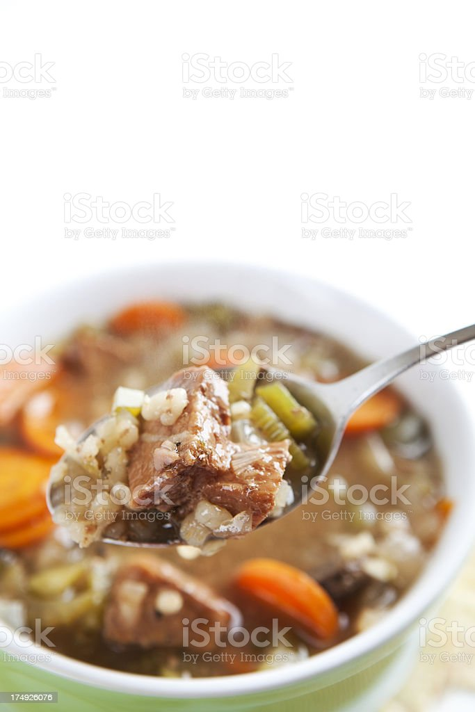 Beef and Barley Soup royalty-free stock photo