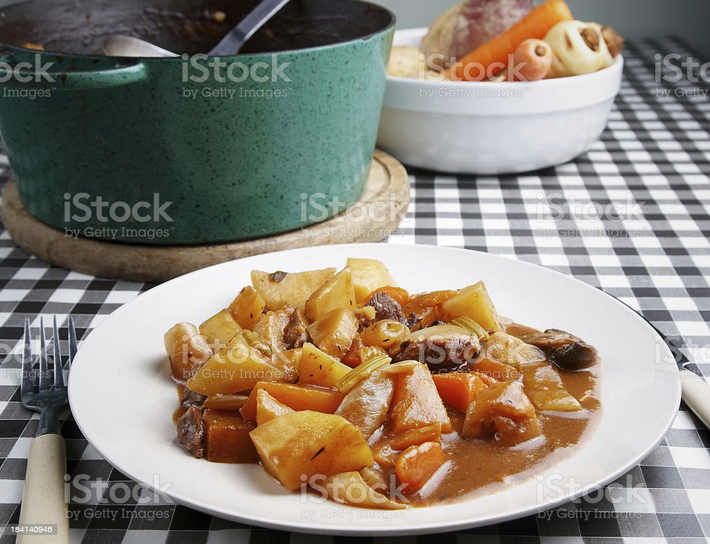 Beef and beer oven stew stock photo