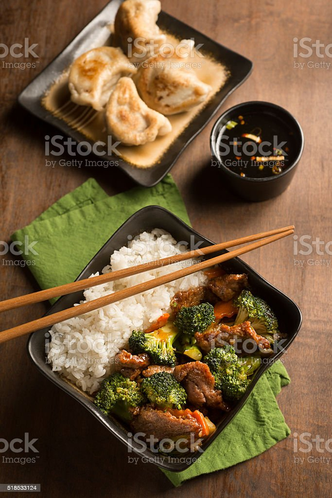 Beef and Broccoli stock photo