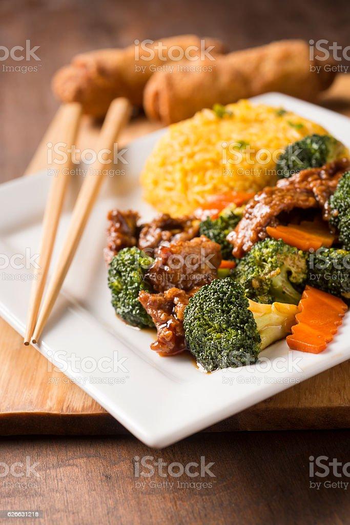 Beef and Broccoli stock photo