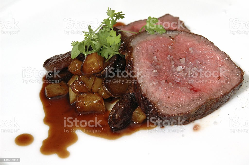 Beef and potatoes royalty-free stock photo
