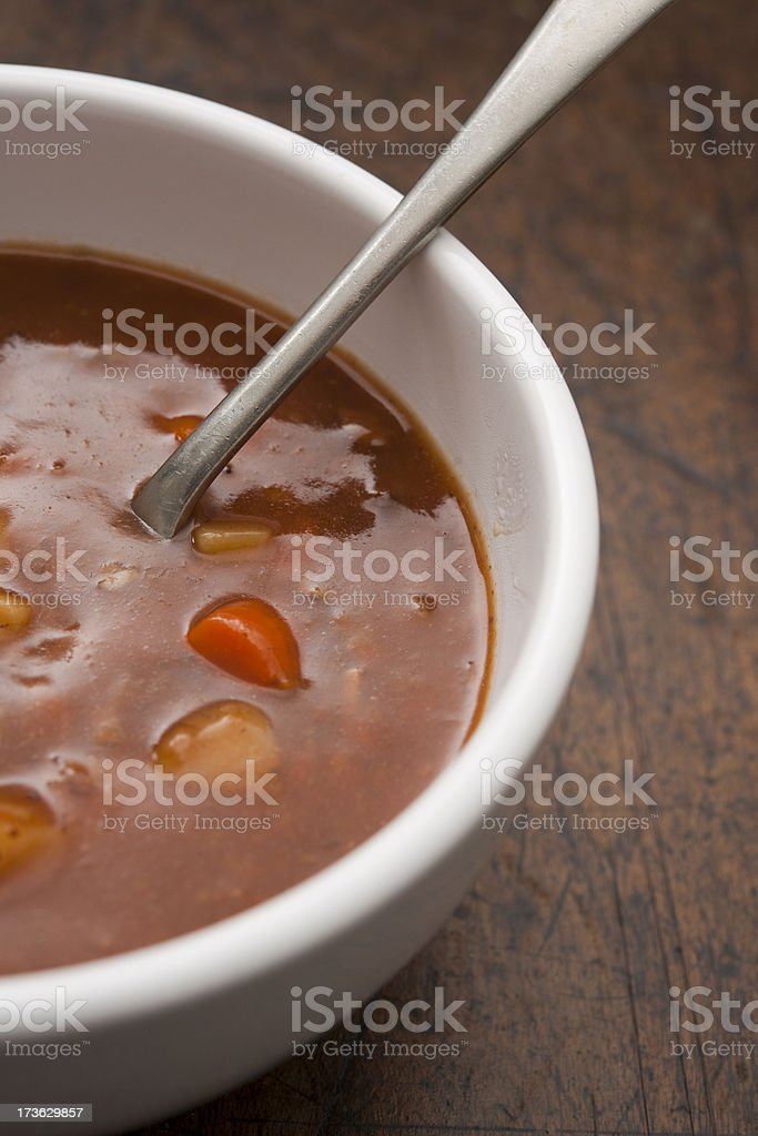 beef and vegetable soup royalty-free stock photo