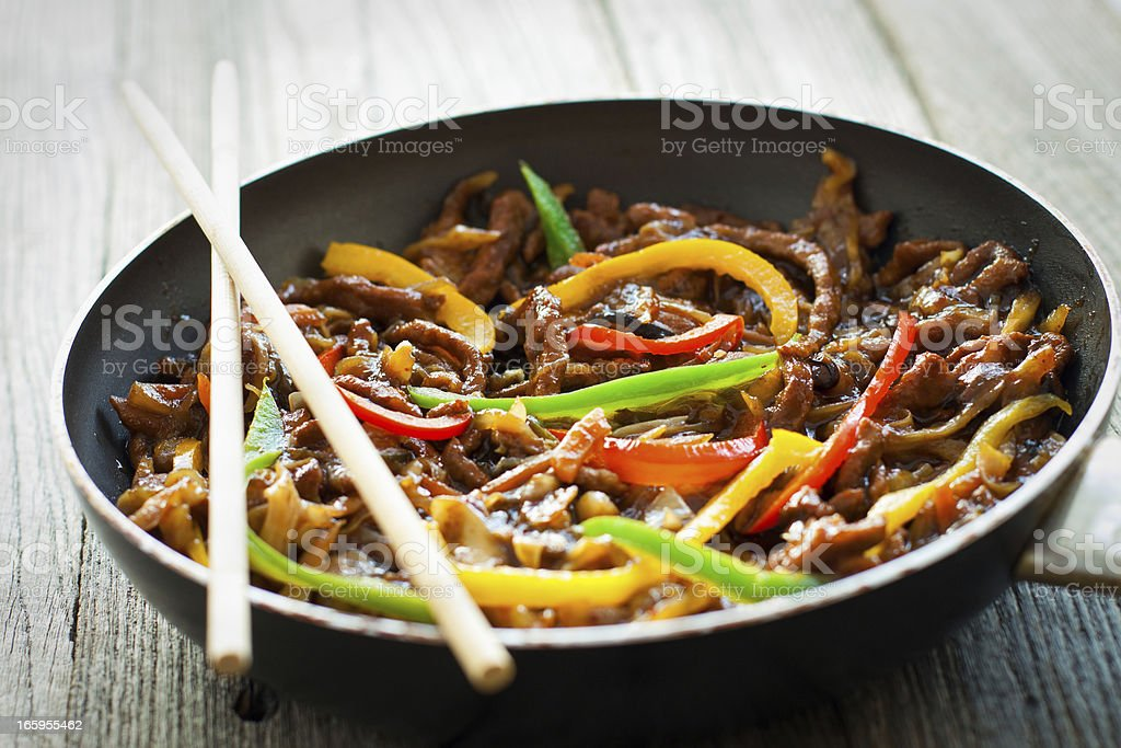 Beef and Vegetable Stir Fry stock photo