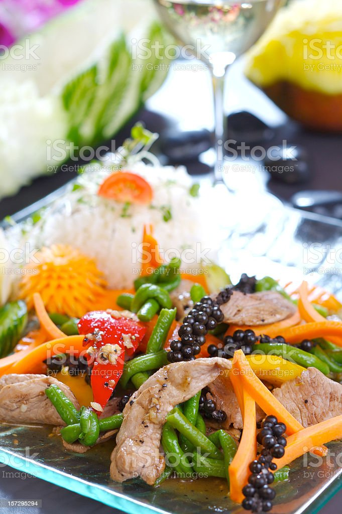 Beef and vegetables royalty-free stock photo