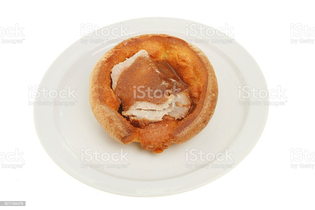 Beef and Yorkshire pudding stock photo