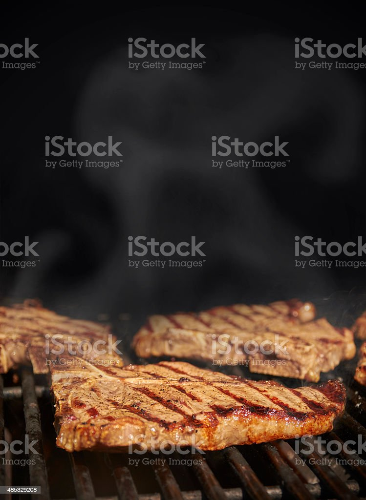 BBQ beef background stock photo