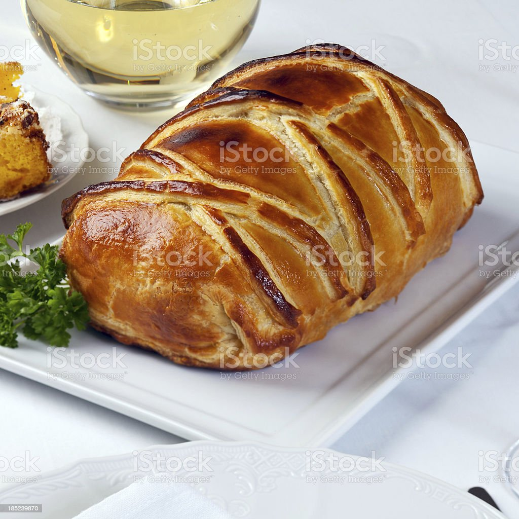 Beef baked in pastry royalty-free stock photo
