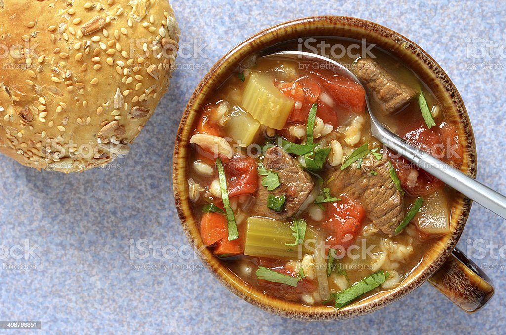Beef Barley soup stock photo