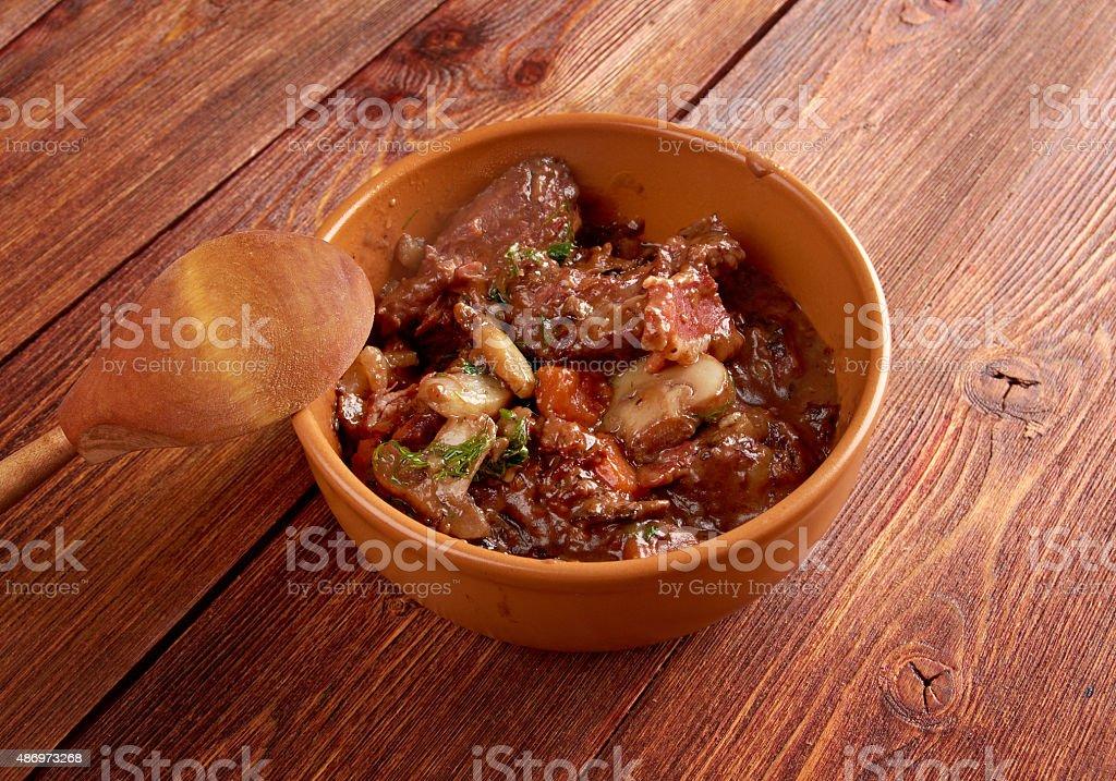 Beef bourguigno stock photo
