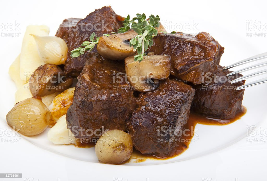 Beef Bourguignon stock photo