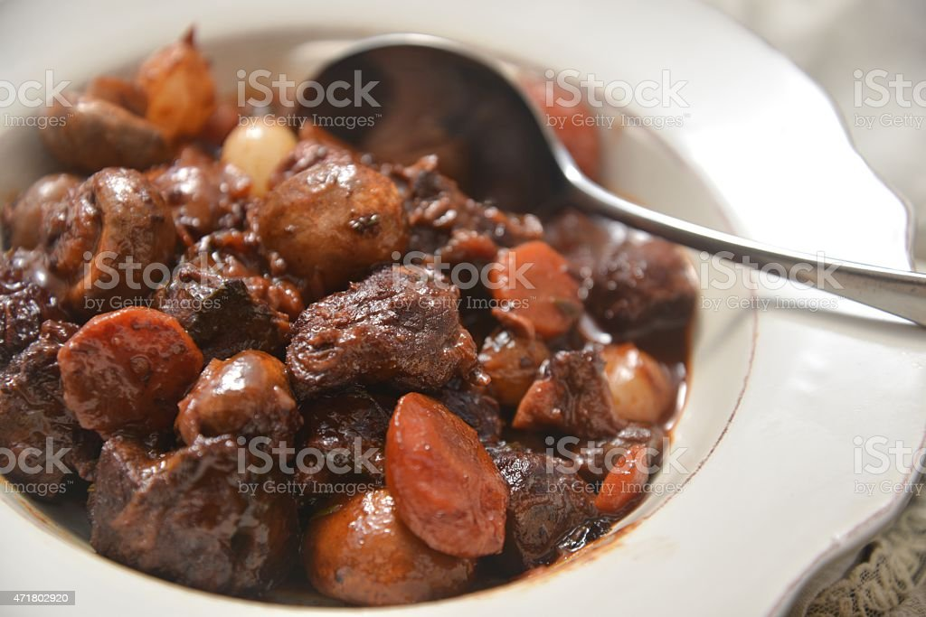 B?UF BOURGUIGNON Beef Bourguignon stock photo
