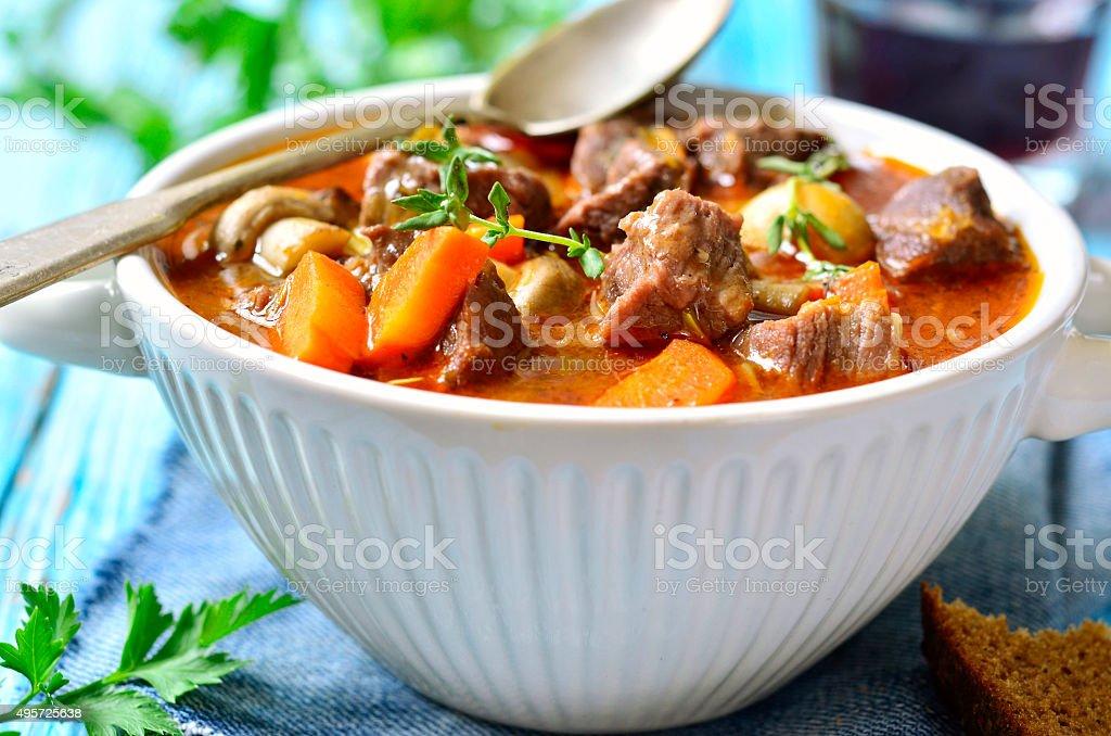Beef Bourguignon. stock photo