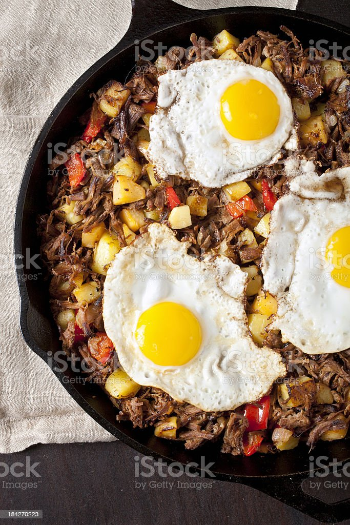 Beef brisket hash royalty-free stock photo